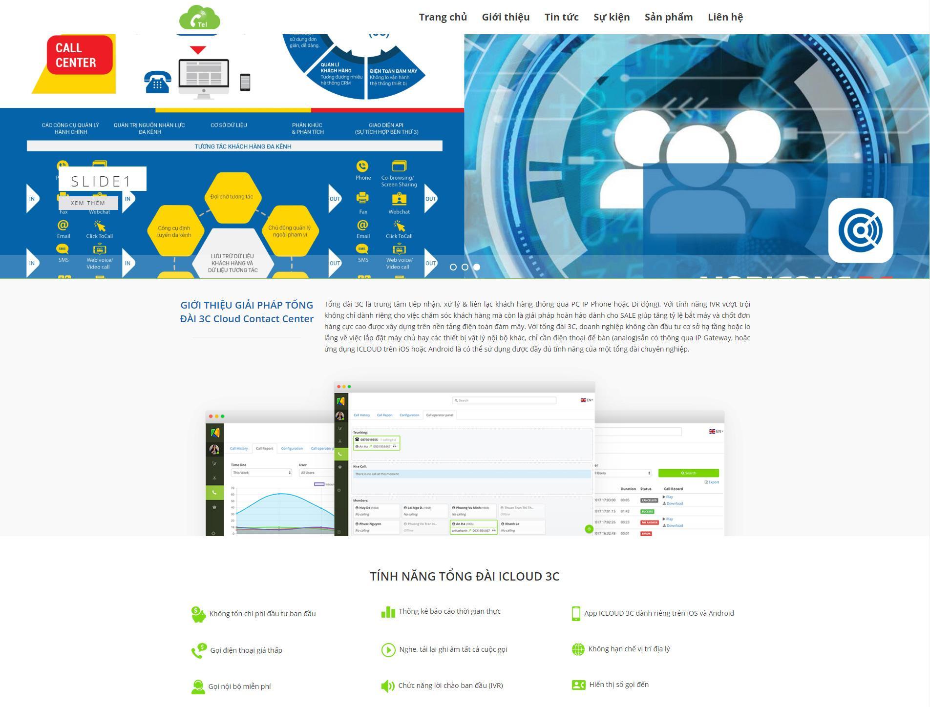 GIỚI THIỆU GIẢI PHÁP TỔNG ĐÀI 3C Cloud Contact Center